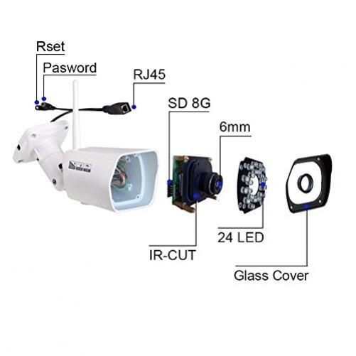 1080P HD IP66 Surveillance Camera Wireless WIFI Indoor Outdoor Home Night Vision