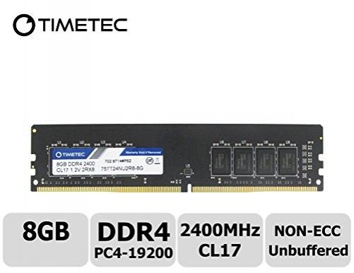 Timetec Hynix IC 8GB DDR4 2400MHz PC4-19200 Unbuffered Non-ECC 1.2V CL17 2Rx8 Dual Rank 288 Pin UDIMM Desktop Arbeitsspeicher Module Upgrade (8GB) – Bild 9