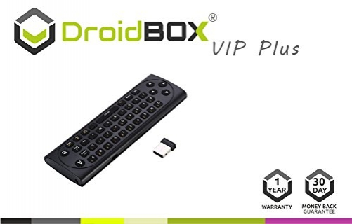 DroidBOX DroidBOX VIP Plus Fernbedienung Rii airmouse (USA Layout - QWERTY)