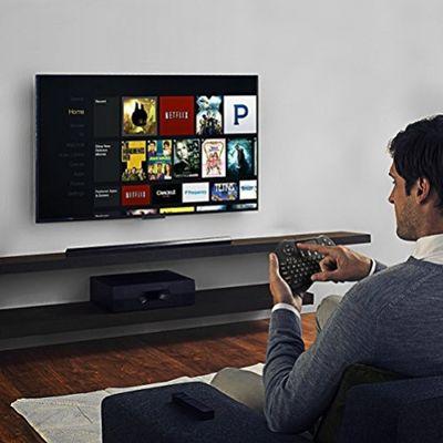 SEGURO Mini 2.4Ghz Wireless Schnurlos Kabellose Touch Tastatur mit Touchpad und Multimedia-Tasten für PC Android TV und weitere (USA Layout - QWERTY) – Bild 5