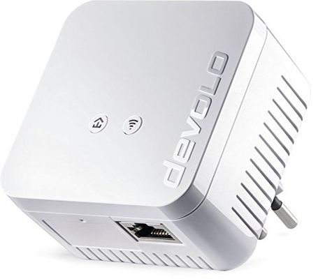 devolo dLAN 550 WiFi Powerline (500 Mbit/s Internet über die Steckdose, 300 Mbit/s über WLAN, 1x LAN Port, 1x Powerlan Adapter, PLC Netzwerkadapter, WiFi Booster, WiFi Move) weiß - Plug-Type J (CH) – Bild 6