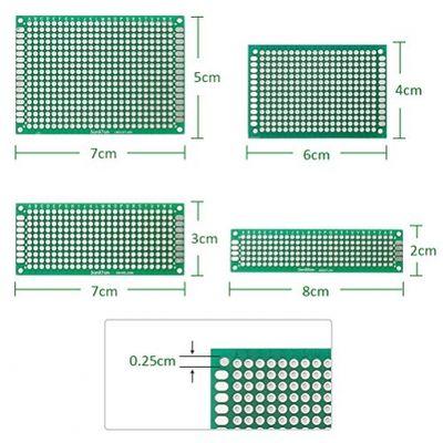 anpro 20Stück 2x 83x 74x 65x 7cm Panneau de Prototyp doppelseitig Karte PCB 10Stück Klemmleiste? 10Stück-Streifen pin-tête – Bild 2