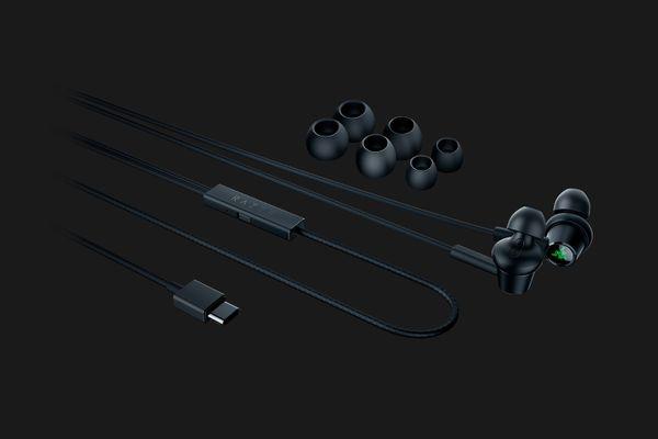 RAZER Hammerhead USB-C ANC - In Ear Active Noise Cancellation - Schwarz – Bild 3