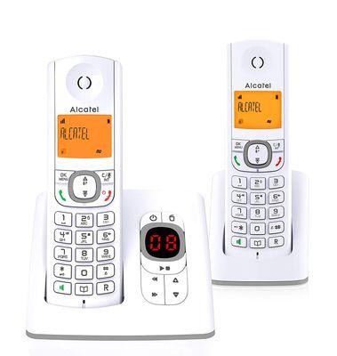 Alcatel F530 DECT-Telefon Grau, Weiu00df Anrufer-Identifikation - Plug-Type C (EU)