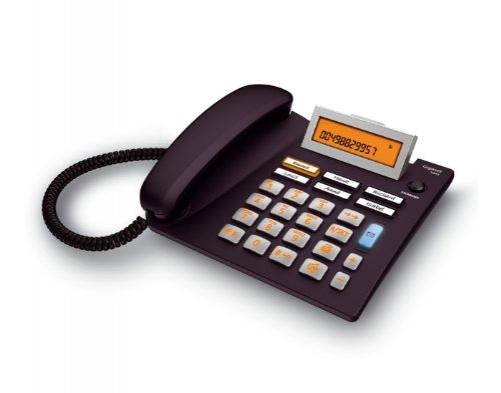 Gigaset Euroset 5040 Telefon -Schnurgebundes Telefon / Schnurtelefon - extra grou00dfer Display - Freisprechen - Grou00dfe Tasten Telefon / Analog Telefon, schwarz - Plug-Type C (EU)