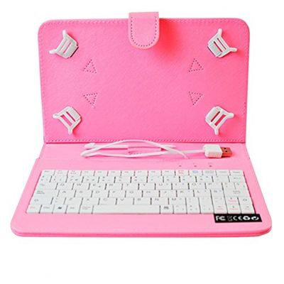 Home a107417 9-pink Custodia per Tablet con tastiera (ESP Layout - QWERTY)