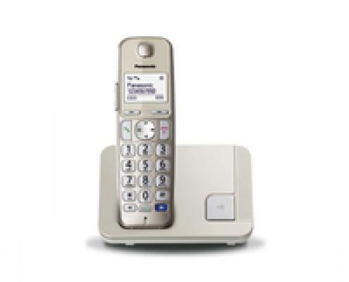 Panasonic KX-TGE210 DECT-Telefon Champagner Anrufer-Identifikation - Plug-Type C (EU)