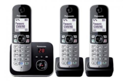 Panasonic KX-TG6823 DECT-Telefon Schwarz, Silber Anrufer-Identifikation - Plug-Type C (EU) – Bild 2