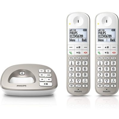 Philips XL4952S - telephones (DECT, Desk, Silver, White, 100 - 240, 50 - 60, AAA)