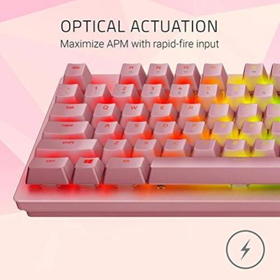 Razer Huntsman PINK - Mechanische Gaming Tastatur mit Opto-Mechanical Schaltern  (USA Layout - QWERTY) – Bild 3