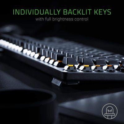 Razer BlackWidow Lite - Silent Mechanical Gaming Keyboard with white LED Backlighting (UK Layout - QWERTY) – Bild 3