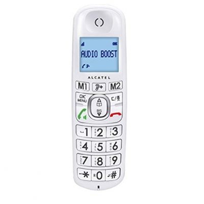 Alcatel XL385 Voice DECT-Telefon Weiu00df Anrufer-Identifikation - Plug-Type C (EU) – Bild 2