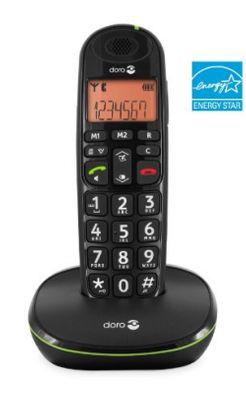 Doro PhoneEasy 100w Duo DECT Schnurlostelefon mit zusu00e4tzlichem Mobilteil (Ladeschale, Freisprechen) schwarz - Plug-Type F (EU) – Bild 2