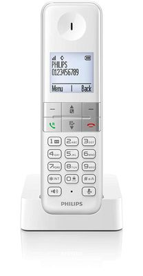 Philips D4501W Phones (DECT, Office, White, 100-240 60 AAA) WHITE – Bild 3