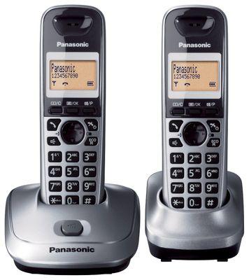 Panasonic KX-TG2512 DECT-Telefon Grau Anrufer-Identifikation - Plug-Type C (EU) – Bild 1