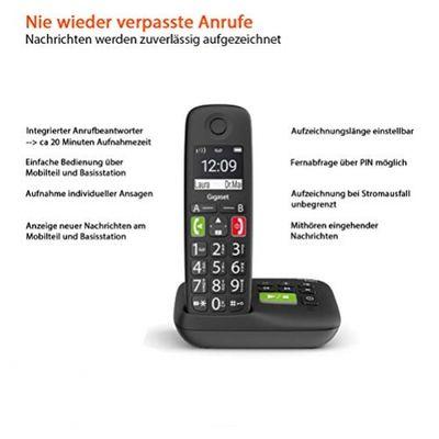 Gigaset S30852-H2921-B101 Telefon Analoges/DECT-Telefon Schwarz Anrufer-Identifikation – Bild 2