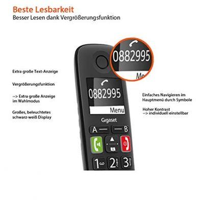 Gigaset S30852-H2921-B101 Telefon Analoges/DECT-Telefon Schwarz Anrufer-Identifikation – Bild 3