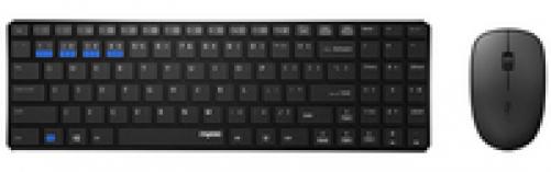 Rapoo 9300M Tastatur mit Maus kabelloses ultraflaches Multi-Mode-Deskset für Büro (DEU Layout - QWERTZ) – Bild 1