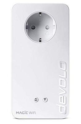Devolo Magic 1 WiFi Powerline Adapter (WiFi ac bis zu 1200 Mbps, 2X LAN Ethernet, integrierter Stecker, Mesh WiFi) weiß – Bild 1