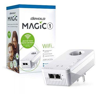 Devolo Magic 1 WiFi Powerline Adapter (WiFi ac bis zu 1200 Mbps, 2X LAN Ethernet, integrierter Stecker, Mesh WiFi) weiß – Bild 3
