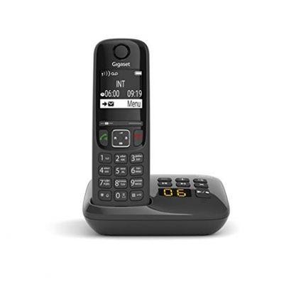 Gigaset AS690A - Schnurloses Telefon mit Anrufbeantworter - DECT-Telefon mit Freisprechfunktion, großes Display und großen Tasten - Festnetztelefon, schwarz – Bild 6