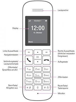 Telekom Sinus 12 in Schwarz Festnetz Telefon schnurlos, 5 cm Farbdisplay, beleuchtete Tastatur | Anschlussunabhängige Nutzung an Allen handelsüblichen Routern und Standardanschlüssen – Bild 4