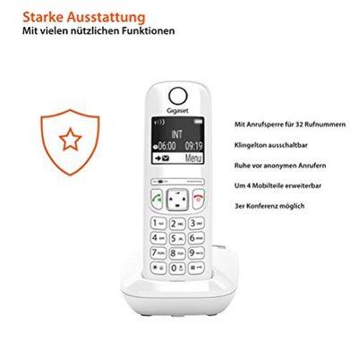 Gigaset AS690 - Schnurlostelefon ohne Anrufbeantworter - DECT-Telefon mit Freisprechfunktion, großes Display, große Tasten - Festnetztelefon, white – Bild 3