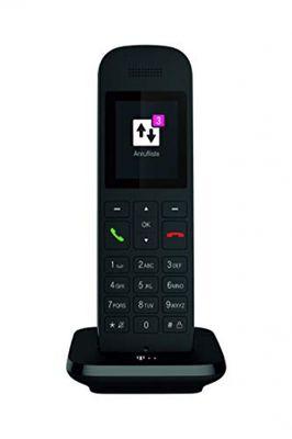 Telekom Festnetztelefon Speedphone 12 in Schwarz schnurlos | Zur Nutzung an aktuellen Routern mit DECT-CAT-iq Schnittstelle (z.B. Speedport, Fritzbox), 5 cm Farbdisplay – Bild 1