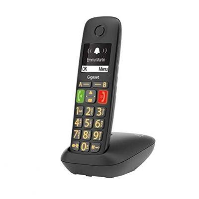 Gigaset E290 Duo 2 schnurlose-/ DECT-/ Analoge Telefone (ohne Anrufbeantworter, mit großen Tasten und großem Display) schwarz – Bild 2
