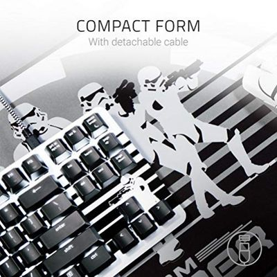 RAZER BlackWidow Lite Stormtrooper Tastatur USB Weiß (USA Layout - QWERTY) – Bild 2