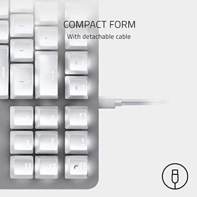 RAZER BlackWidow Lite Tastatur USB Weiß (USA Layout - QWERTY) – Bild 3