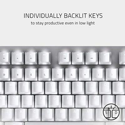 RAZER BlackWidow Lite Tastatur USB Weiß (USA Layout - QWERTY) – Bild 4