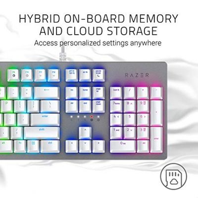 RAZER Huntsman Mercury Mechanische Gaming Tastatur (RGB Beleuchtung) weiu00df (USA Layout - QWERTY) - (GBR Layout - QWERTY) – Bild 4