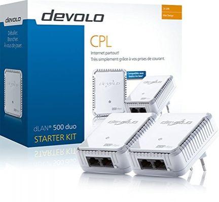 Devolo dLAN 500 duo Starter Kit 100 Mbit/s Eingebauter Ethernet-Anschluss Weiß 2 Stück(e) – Bild 1