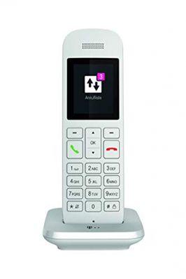 Telekom Festnetztelefon Speedphone 12 in Weiß schnurlos | Zur Nutzung an aktuellen Routern mit integrierter DECT-CAT-iq Schnittstelle (z.B. Speedport, Fritzbox), 5 cm Farbdisplay – Bild 1