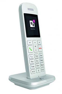 Telekom Festnetztelefon Speedphone 12 in Weiß schnurlos | Zur Nutzung an aktuellen Routern mit integrierter DECT-CAT-iq Schnittstelle (z.B. Speedport, Fritzbox), 5 cm Farbdisplay – Bild 2
