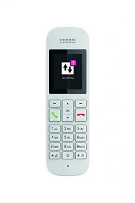 Telekom Festnetztelefon Speedphone 12 in Weiß schnurlos | Zur Nutzung an aktuellen Routern mit integrierter DECT-CAT-iq Schnittstelle (z.B. Speedport, Fritzbox), 5 cm Farbdisplay – Bild 4