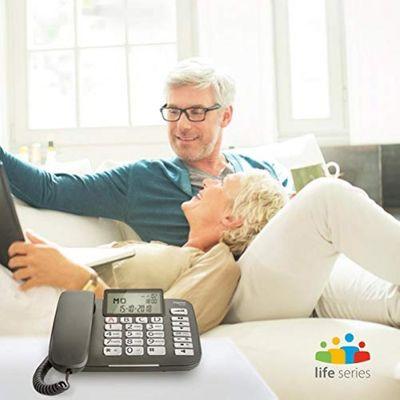 Gigaset DL580 - schnurgebundenes Senioren Telefon - Tischtelefon mit extra leichter Bedienung und beleuchtetem Farbdisplay, schwarz – Bild 4