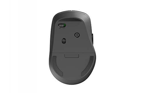 Rapoo M300 kabellose Multi-Mode-Maus mit Lautlos-Schalter - Bluetooth 3.0, Bluetooth 4.0, 2,4 GHz-Funkverbindung, 1600 DPI-Sensor, dunkelgrau – Bild 5
