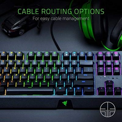RAZER Blackwidow Mechanical Gaming Keyboard, with RAZER Green Switches (Clicky and Tactile), RGB Chroma Enabled (USA Layout - QWERTY) – Bild 5