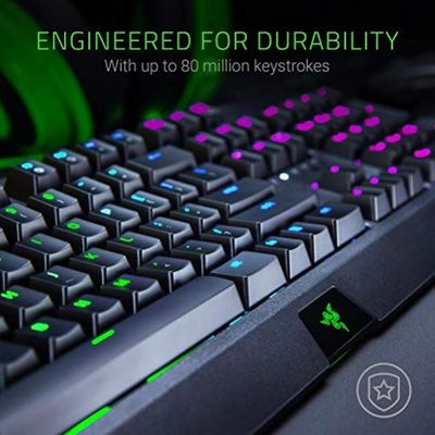 RAZER Blackwidow Mechanical Gaming Keyboard, with RAZER Green Switches (Clicky and Tactile), RGB Chroma Enabled (USA Layout - QWERTY) – Bild 6