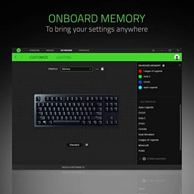 RAZER Huntsman Tournament Edition Tastatur USB - (USA Layout - QWERTY) – Bild 3