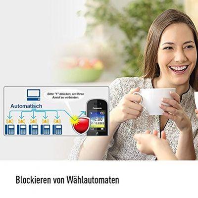 Panasonic KX-TGH720 DECT-Telefon Schwarz Anrufer-Identifikation – Bild 2