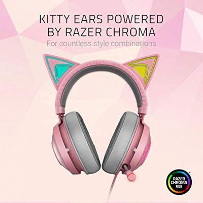 RAZER Kraken Kitty USB Gaming Headset mit Chroma Lighting Quartz Edition Pink – Bild 1