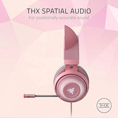 RAZER Kraken Kitty USB Gaming Headset mit Chroma Lighting Quartz Edition Pink – Bild 3