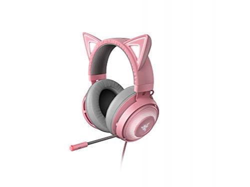 RAZER Kraken Kitty USB Gaming Headset mit Chroma Lighting Quartz Edition Pink – Bild 6