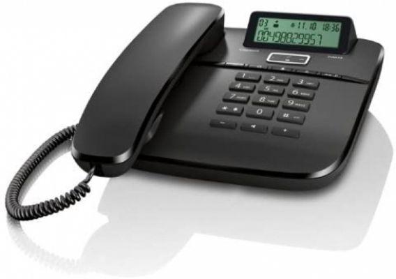 Gigaset DA610 - Schnurgebundenes Telefon - klassisches Schnurtelefon mit Direktruf und Freisprech Funktion - Hörgeräte kompatibel, BLACK – Bild 2