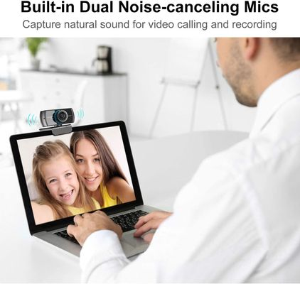 Spedal Full HD Webcam 1080p, Live Streaming PC Camera with Microphone, USB Webcam for Xbox OBS XSplit Facebook Skype, Compatible for Mac OS Windows 10/8/7 – Bild 3