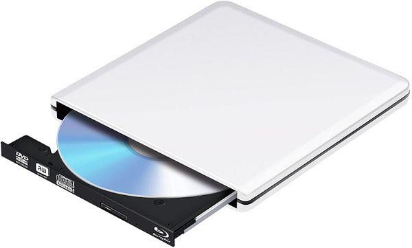 PiAEK Externe Blu Ray DVD-Laufwerk 3D, BluRay DVD CD opitical Disc Reader Player für PC Windows Mac OS (Silber) – Bild 3