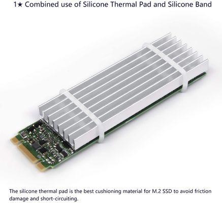 Akineko Kühlkörper-Kühlset, Aluminium Silber Silber 66x22mm 1 Pack – Bild 3